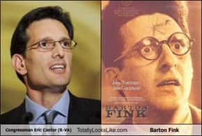 Congressman Eric Cantor (R-VA) Totally Looks Like Barton Fink