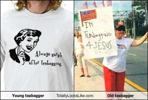 Young teabagger Totally Looks Like Old teabagger