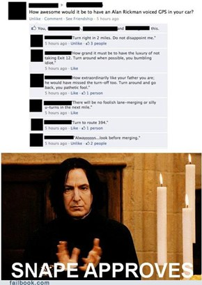 The Alan Rickman GPS