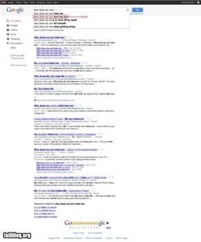 Google Auto Complete Fail