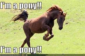I'm a pony!!  I'm a pony!!