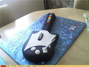 Awesome Guitar Hero cake is Awesome