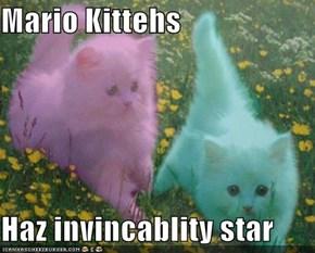 Mario Kittehs  Haz invincablity star