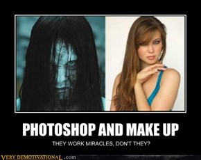 PHOTOSHOP AND MAKE UP