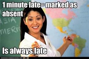 Terrible Teacher: Hypocrite Alert