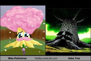 Wise Fluttertree  Totally Looks Like Deku Tree