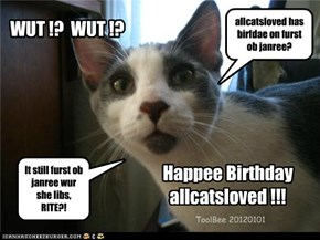 Happee Birthdayallcatsloved !!!