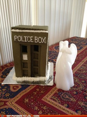The Angel has the phone box!