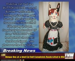 pRIMITIVE cAT dOLL 4SALE