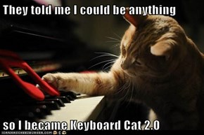 They told me I could be anything  so I became Keyboard Cat 2.0