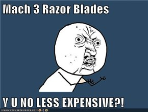 Mach 3 Razor Blades  Y U NO LESS EXPENSIVE?!