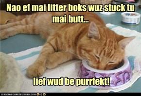 Purrfektly lazy!