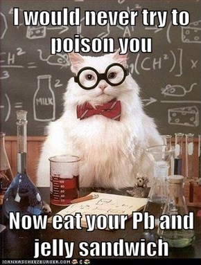 Chemistry Cat: This Sandwich Tastes Funny...