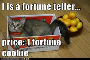 I is a fortune teller...  price: 1 fortune cookie