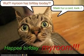 Happee birfday myroom!!!