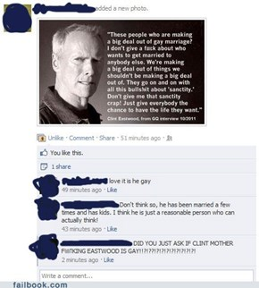 Clint Eastwood on Gay Marriage