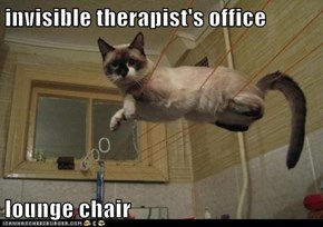 invisible therapist's office   lounge chair