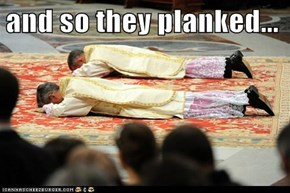 and so they planked...