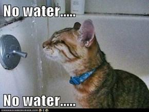 No water.....  No water.....