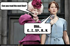 Hunger Games: Eye Exam