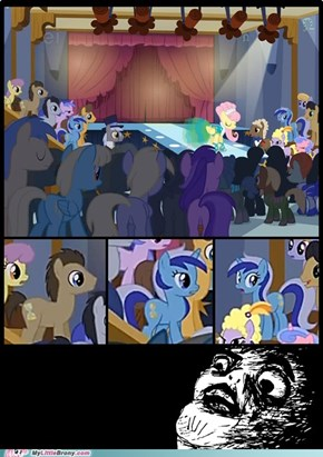 Dr Whooves likes fashion shows... or Fluttershy...