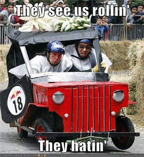 They see us rollin'  They hatin'