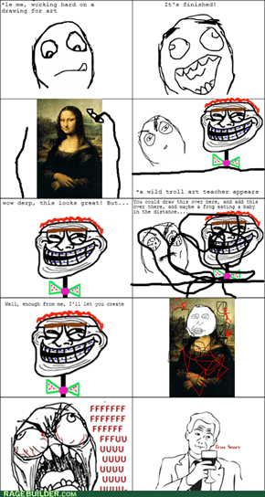 Trolling is in Art
