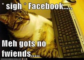 * sigh * Facebook.....  Meh gots no fwiends.....