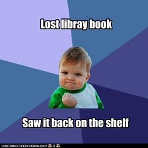 Lost libray book