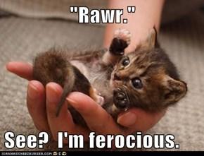 """""""Rawr.""""  See?  I'm ferocious."""