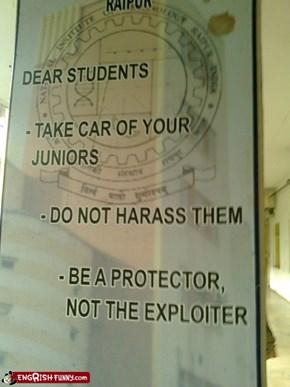 Forget about Freshmen, they're OK to exploit