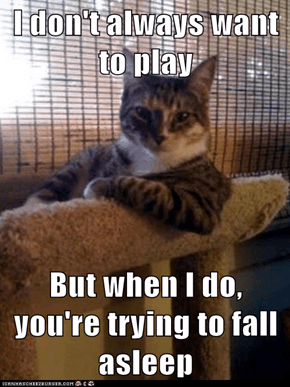 I don't always want to play  But when I do, you're trying to fall asleep