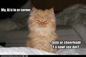 Rly, Ai iz in ur corner...