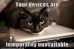 Your devices are  temporarily unavailable
