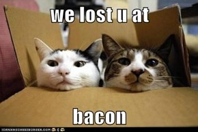 we lost u at   bacon