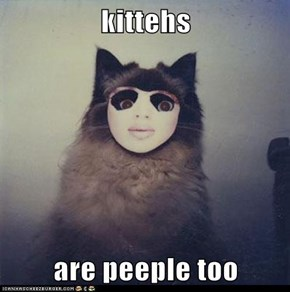 kittehs  are peeple too