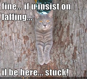 fine... if u insist on laffing...  il be here... stuck!
