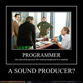A SOUND PRODUCER?