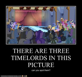 THERE ARE THREE TIMELORDS IN THIS PICTURE