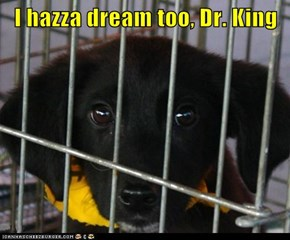 I hazza dream too, Dr. King