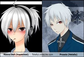 Honne Dell (Voyakiloid) Totally Looks Like Prussia (Hetalia)