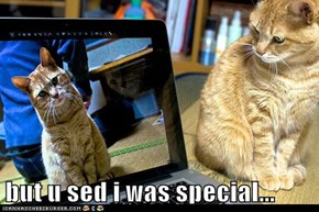 but u sed i was special...