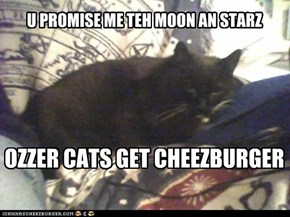 No cheezeburgers in space