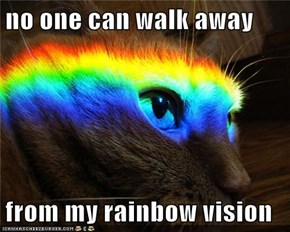 no one can walk away  from my rainbow vision