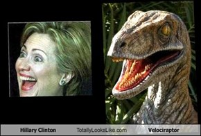 Hillary Clinton Totally Looks Like Velociraptor