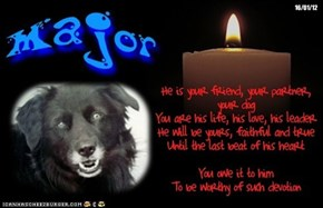 A Monday Night Candle For The FurFriends In Our Hearts And Memories And For Those In Our Prayers