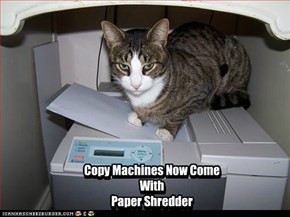 Copy Machines Now Come With Paper Shredder