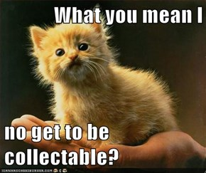 What you mean I  no get to be collectable?