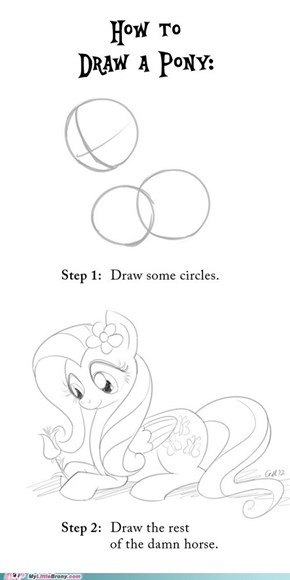 Drawing Ponies, Easy as 1... 3!