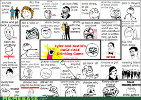 Rage Face Drinking Game!